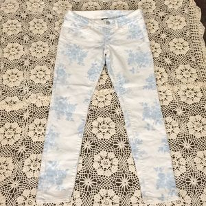 Jeans American Eagle floral Jeggings size 4 !